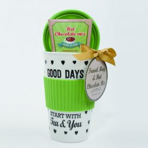 Travel mug with coffee gift set